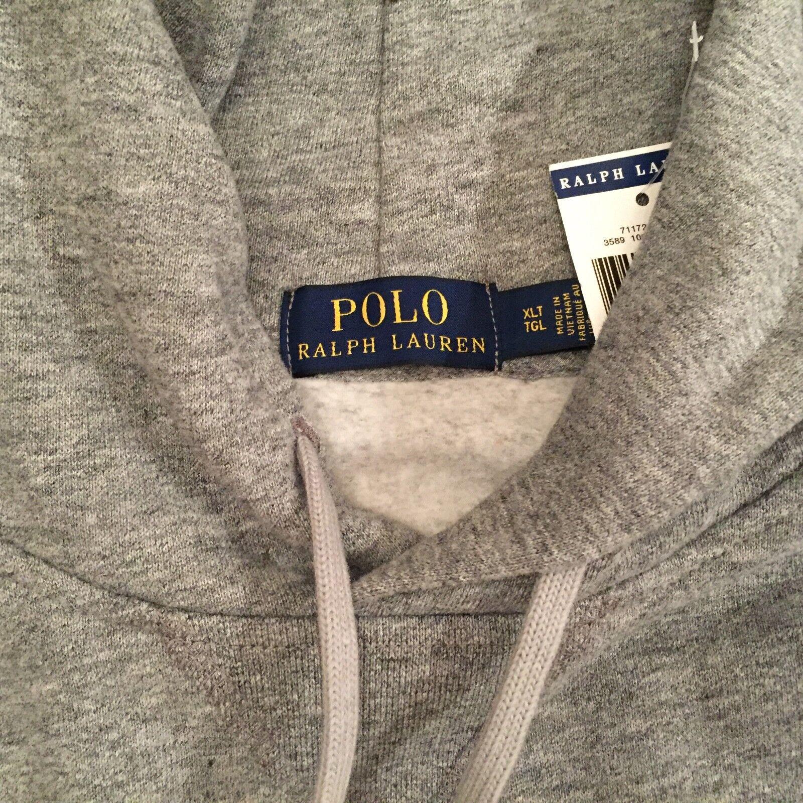 Polo Ralph Lauren Herren Polo Bear Soccer Bear Hoodie weiß oder grau Big & Tall
