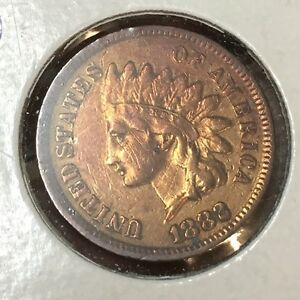 Details About 1882 Indian Head Cameo Penny One Cent Coin 1c United States Of America Usa Money