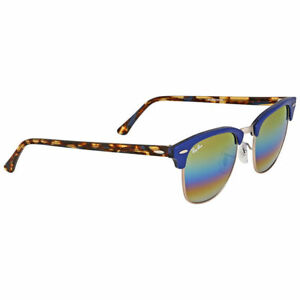 Ray-Ban Clubmaster Rb3016 1223 C4 Blue Bronze Mineral Fade Mirror Authentic 8bc3b423e4