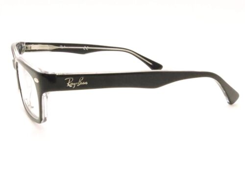 dee8a22f4e 2 of 4 Ray Ban RB 5150 2034 Black Crystal Eyeglass New Authentic RX Frame