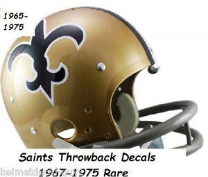 Saints F//S-XL 2018 Football Helmet DECALS//COMPLETE SET..