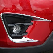 New Sport Chrome Front Fog Light Frame Cover For Mazda CX-5 2013-2016