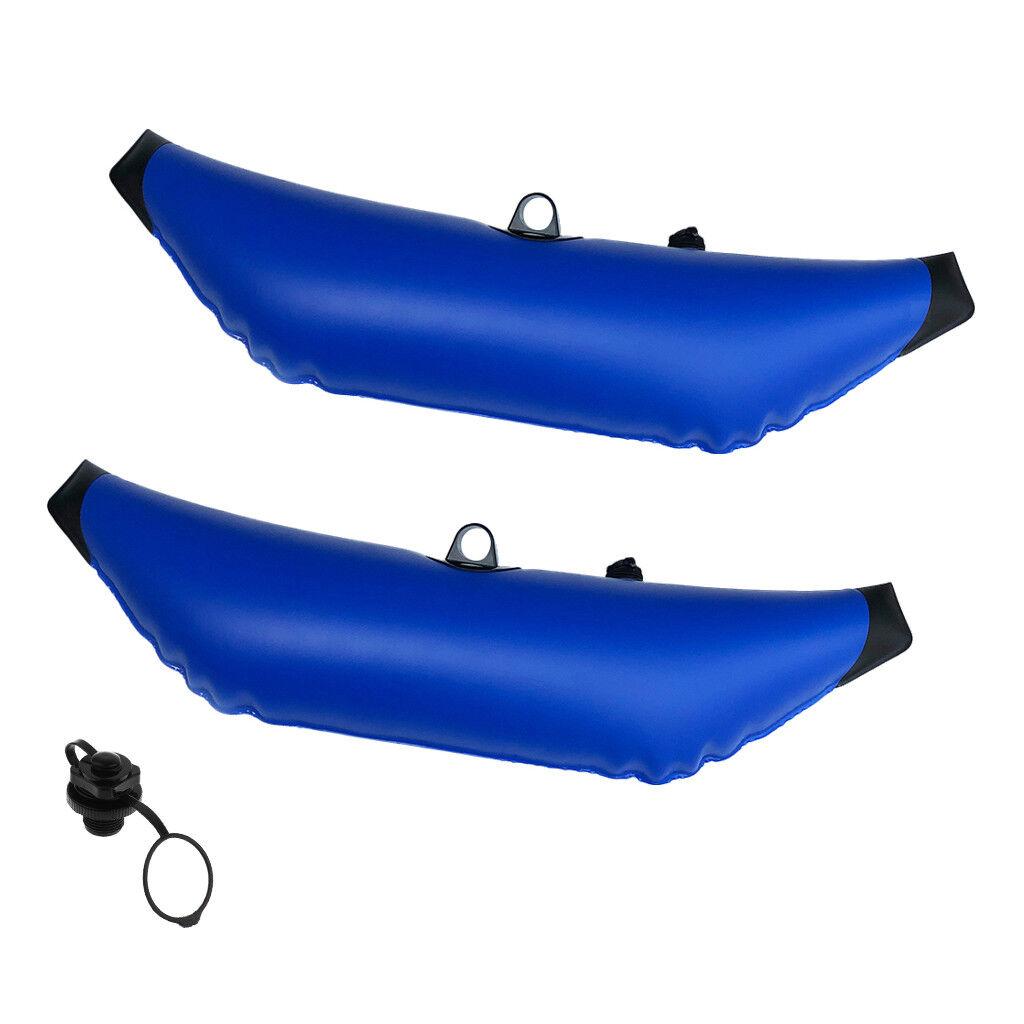 2Pcs Universal Kayak Outrigger Stabilisator & 7 8  Schraube Luftventil