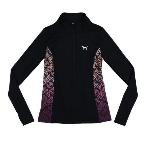 Victoria/'s Secret Pink Half Zip Ultimate Athletic Pullover Top Sport Shirt New