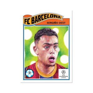 Sergino Dest USA FC Barcelona 2021 UCL Topps Now Living Set Card #318 UEFA