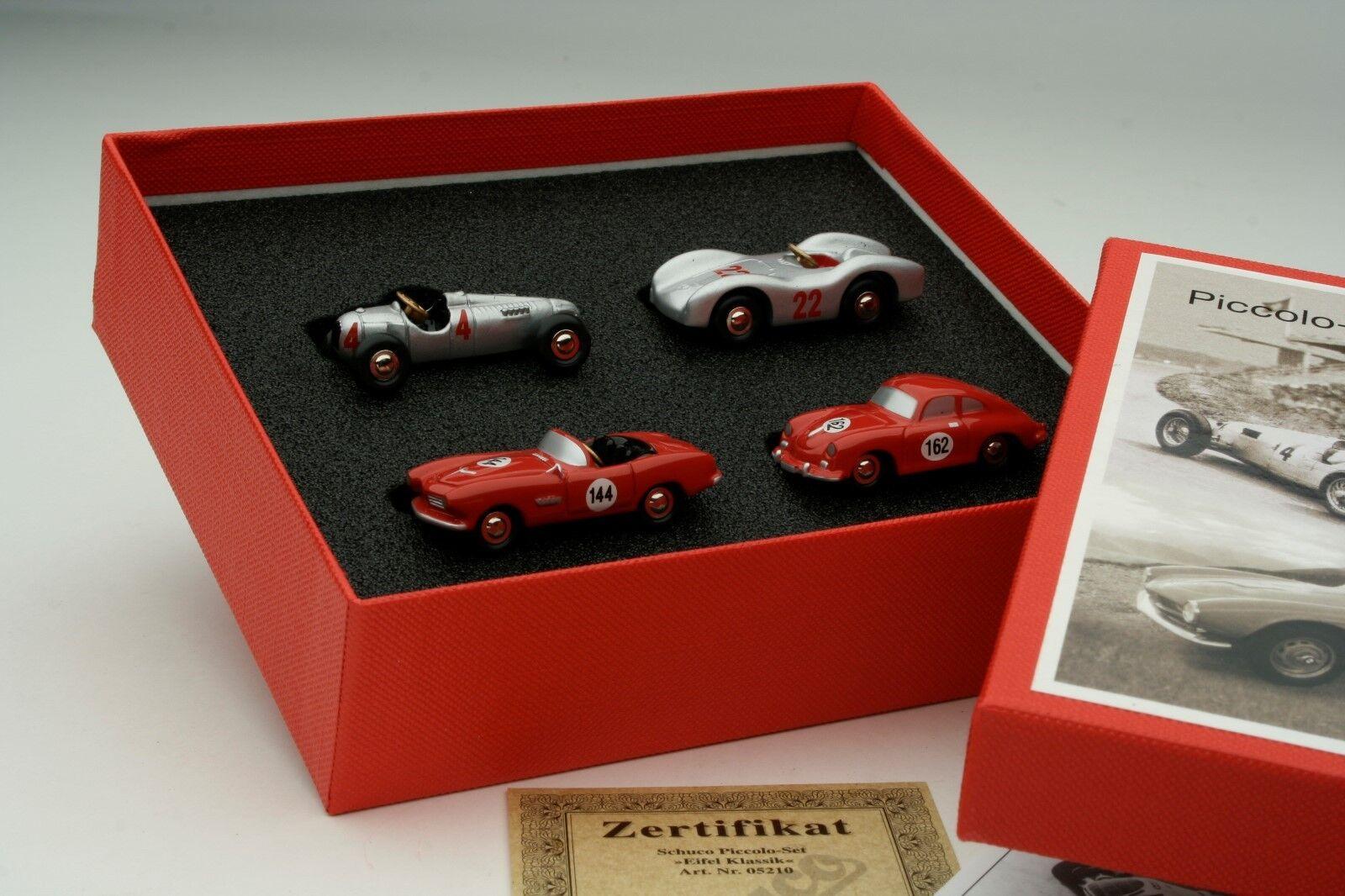 Schuco Piccolo   4 Car Gift Set     Auto-Union Mercdes BMW Porsche    SHU05210 d6ab4d