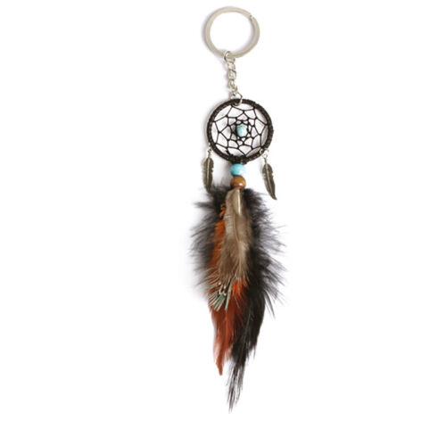 Keyring Keychain Chain Key Ring Feather Tassels Dream Catcher Pendant Car Decor