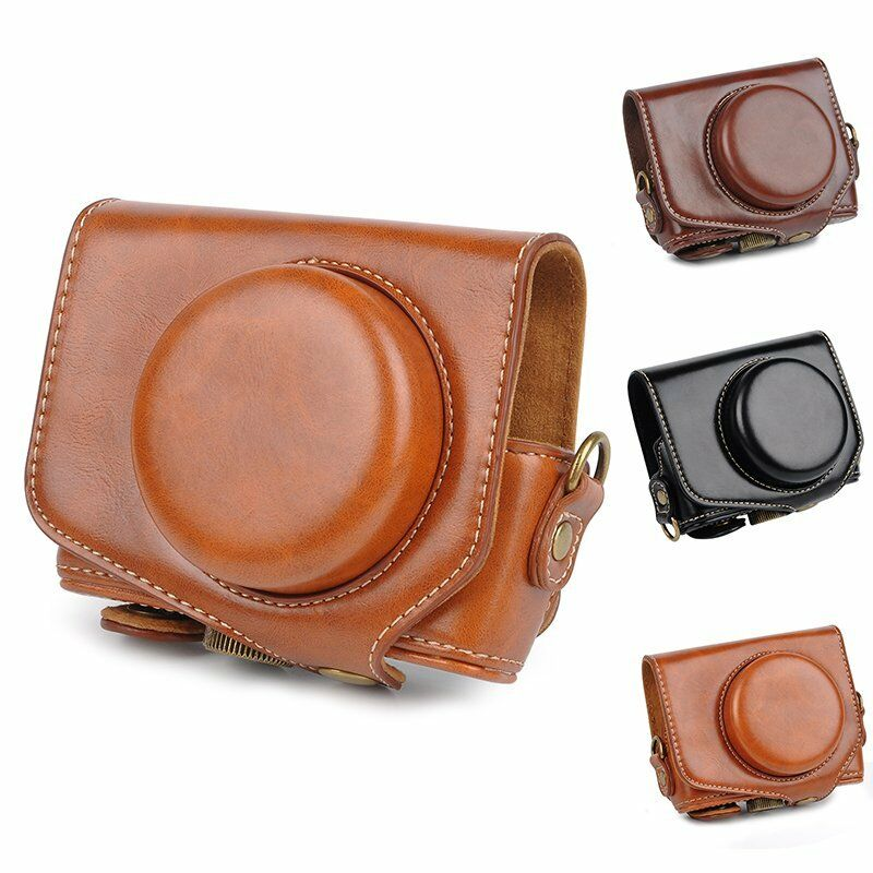 Leather Camera Case Bag Cover For Canon PowerShot G7X Mark2