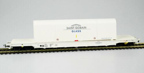 KKK OVP NEU! HERIS 15043-2 Spur H0 Glastransportwagen Saint-Gobain Epoche VI