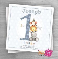 Item 2 Personalised Handmade Card Baby 1st First Birthday Son Grandson Nephew Cute