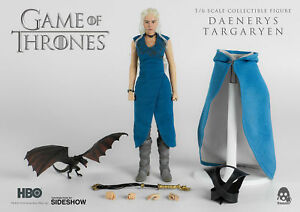 1/6 Threezero Hbo Jeu Des Trônes Daenerys Targaryen Avec Dragon Mib