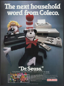 COLECO_/_Dr. Seuss__Original 1984 Trade AD / ADVERT__Cat in the Hat_ColecoVision