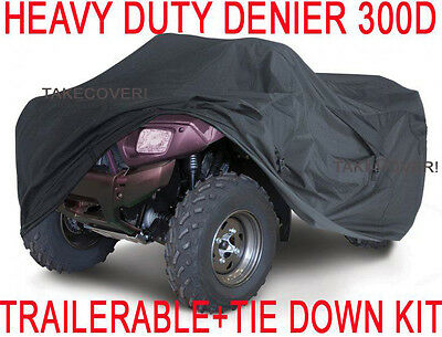 """75/"""" Waterproof UV-Resistant ATV Quad Trailerable Cover with Tie-Down Straps"""