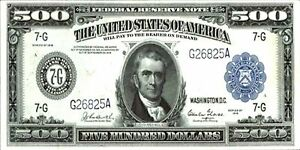 PHOTO-MAGNET-USA-Reproduction-1914-Federal-Reserve-Five-Hundred-Dollars