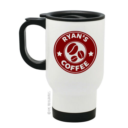 Personalised Your Name Coffee Costa Style Quality Stainless Steel Travel Mug