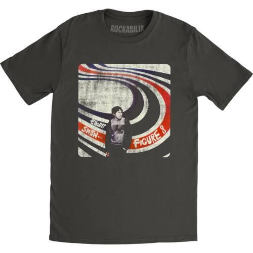 Elliott Smith Men/'s  Figure 8 Slim Fit T-shirt Coal