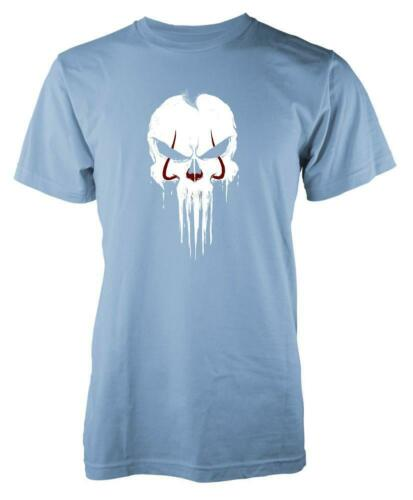 Punisher IT Clown Mashup Adult T Shirt