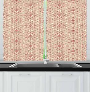 Asian-Oriental-Kitchen-Curtains-2-Panel-Set-Window-Drapes-55-034-X-39-034