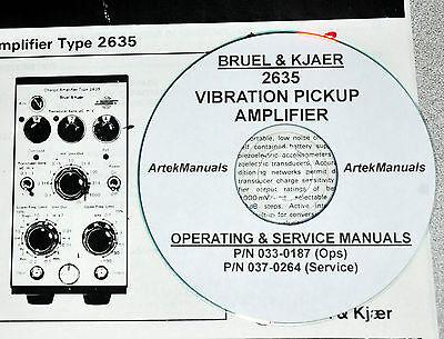 Bruel /& Kjaer 2635 Vibration Amplificateur 2 vol Operating /& Service avec schémas