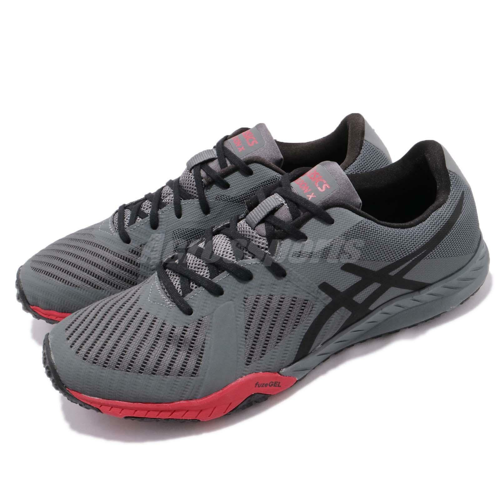 Asics Weldon X Carbon Grey Black Red Mens Training shoes shoes shoes Trainers S707N-9790 b09603