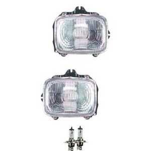 Halogen Scheinwerfer Set H4 für Toyota Hilux V Pick-up IV inklusive Lampen