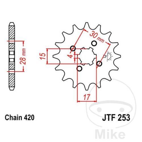 JT Front Sprocket 14T 420 Pitch JTF253.14 Honda CR 80 R 1982