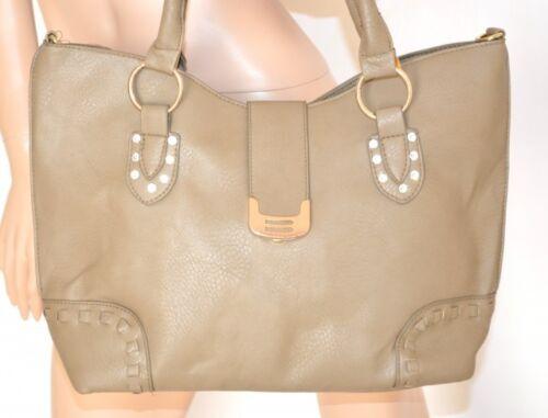BORSA BEIGE pelle donna shopper CRISTALLI ecopelle a spalla a mano bolsa 890