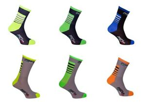 1-PAIO-CALZINI-CICLISMO-DARK-BLUE-GREY-amp-FLUO-CYCLING-SOCKS-1-PAIO-ONE-SIZE