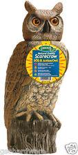 NEW! Dalen GARDEN DEFENSE SOL-R ACTION OWL Decoy Pest Control Solar Scarecrow