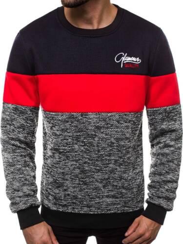 Felpa Pullover Sweatjacke Motivo Manica Lunga Top Maglione Uomo OZONEE js//ks1895