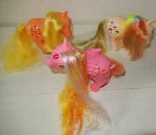 Lot 3 MON PETIT PONEY vintage My Little pony MLP HASBRO 1983 ITALY  84 CHINA G1