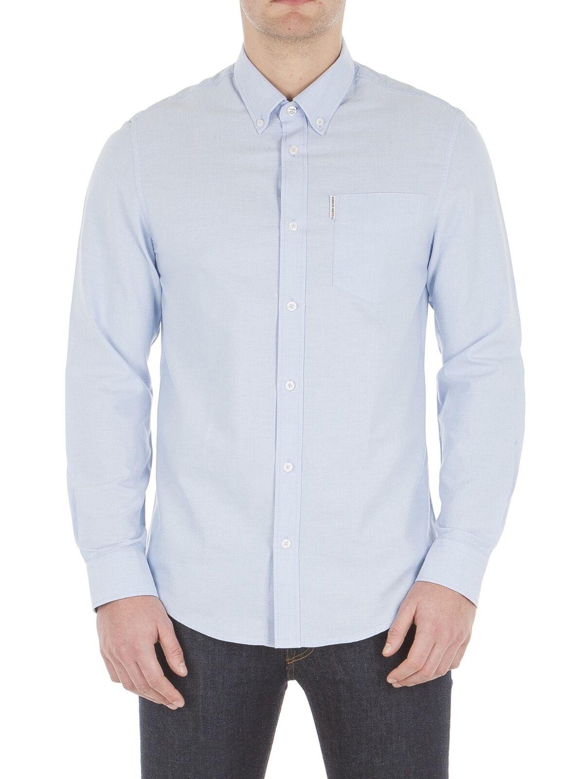 Ben Sherman Mens Cotton Oxford Shirt Regular Fit Fit Fit Long Sleeve Button Down Collar | Sonderaktionen zum Jahresende  8f0f7a
