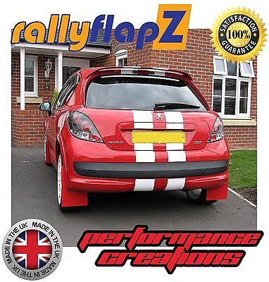 Rally Style Mudflaps To Fit Peugeot 207 Mud Flaps Qty4 Rallyflapz 4mm Pvc Red Ebay