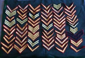 Job-Lot-of-British-Military-Army-Sergeant-Corporal-L-Cpl-Cloth-Badges-80-Items-A