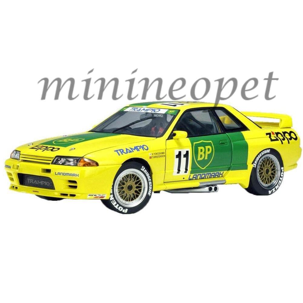 Autoaart 89381 Nissan Skyline GT-R R32  11 huile trampio 1 18 Voiture Modèle Jaune