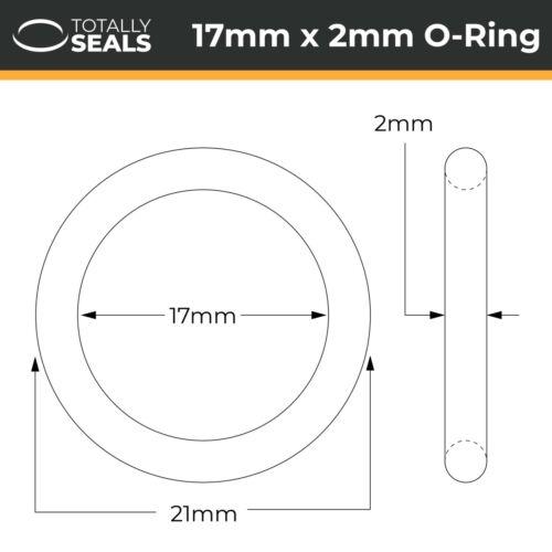 O-Ringe NBR Nitril Id 17mm Innendurchmesser Gummi 70A Metrisch Dichtungen