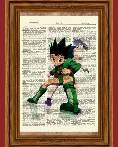 Hunter X Hunter Anime Dictionary Art Print Poster Picture Gon and Killua