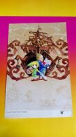 Legend Zelda Twilight + Phantom - Nintendo Power Original Rare Poster Ds