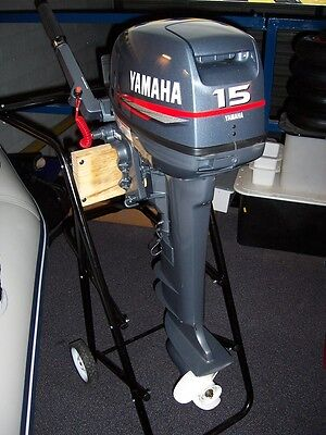 New Yamaha 2 Two Stroke 15 Fmhl S Hp Outboard Boat Motor Engine Commercial 15hp Ebay