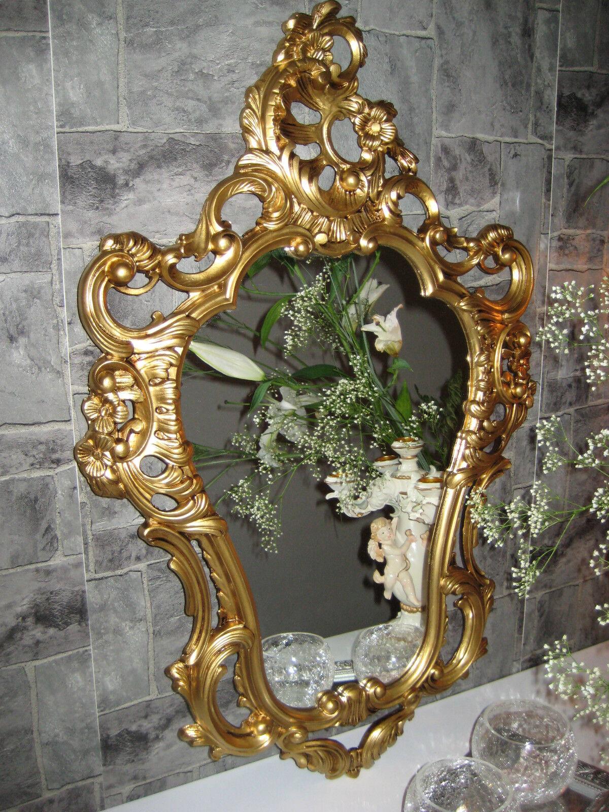 Espejo de parojo Dorado Antiguo en estilo moderno baño Barroco 50x76 NUEVO