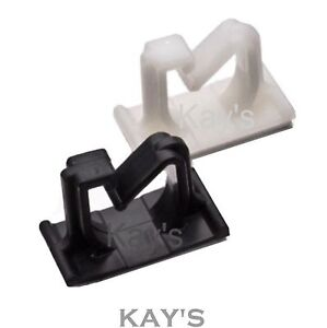 SELF ADHESIVE CABLE CLIPS G TYPE PLASTIC WIRE HOLDER ...