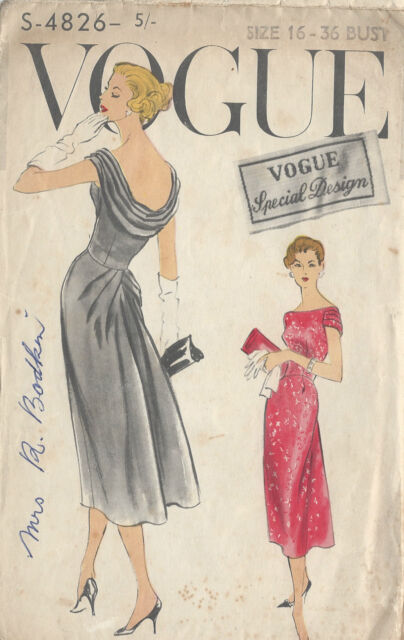 1950s Vintage Sewing Pattern By Vogue Size 14 Ebay