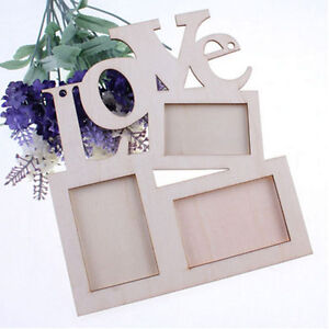 Sweet-Love-Wooden-Photo-Frame-With-3-Wood-Picture-Frame-Home-Decor-DIY-Gift-JG