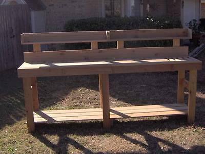 Superb New 8 Ft Cedar Potting Bench Gardening Planter Benches With Shelf Storage Ebay Andrewgaddart Wooden Chair Designs For Living Room Andrewgaddartcom