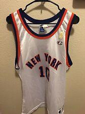 Vtg CHAMPION 50th Gold Anniversary Walt Frazier NY Knicks Jersey 44 L MADE USA