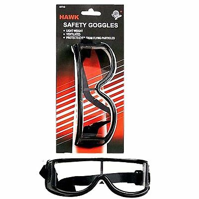 HAWK EY15 Safety Goggles Adjustable Ventilated wrap around design sung fit I2-8