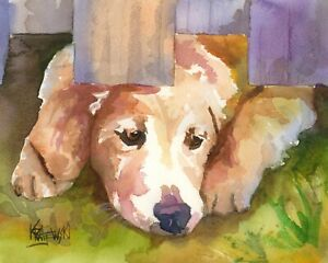 Poster Home Decor 11x14 Golden Retriever GiftsArt Print from Painting