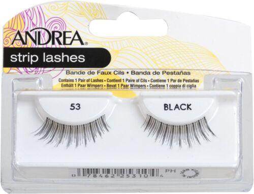Andrea Modlash 53 False Eyelashes Strip Lashes Black 25310