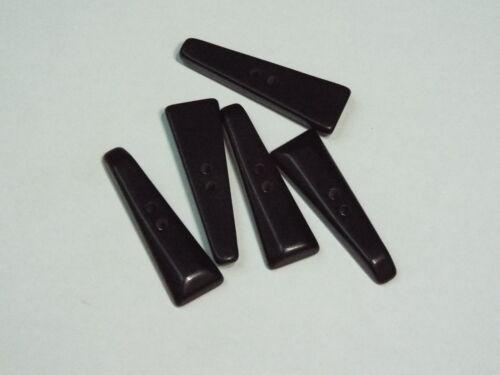 5pc 30mm Chunky Black 2 hole Toggle Button 2510