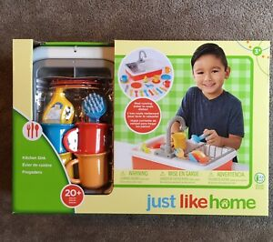 Just Like Home Kitchen Sink Child Pretend Play Ebay